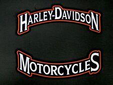"HARLEY DAVIDSON MOTORCYCLES LARGE ROCKER PATCH 12"" ""SHIPS INTERNATIONAL"""