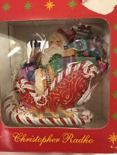 Christopher Radko Candy Ride Santa 2 Ornament Nib New