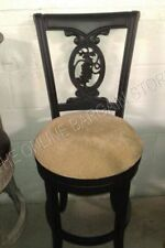 """Frontgate Carved Grape Bar fabric BAR 30"""" HEIGHT counter Barstool stools Black"""