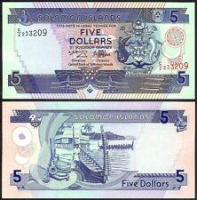SOLOMON ISLANDS 5 DOLLARS ND(1997) P19 UNCIRCULATED