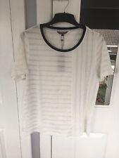 tommy hilfiger semi sheer t shirt top size M