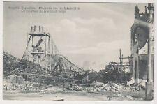 Bruxelles Exhibition 1910 postcard - L'Incendie 1910, Ce Qui Reste de la Section