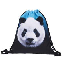 Travel Bag Big Capacity Creative Ladies Backpack 3D Panda Printing Drawstring FA