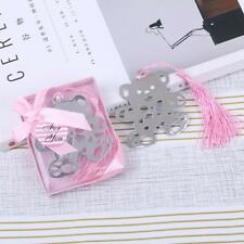Exquisite Lovely Teddy Bear Silver Metal Tassel Bookmark Wedding Party Gifts