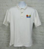 Vintage Chevrolet Corvette NCRS Polo Shirt Sz Large White Embroidered Mens
