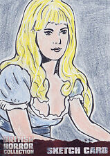 British Horror Collection Sketch Card SK1 By K-L Dye