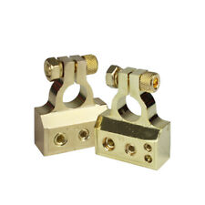 1 Set High Current Battery Terminal Clamps Top Post RV Audio Connector 0/4/8 AWG