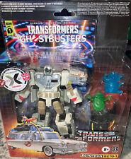 Transformers x Ghostbusters ECTOTRON ECTO-1 w/ Comic - NIP w/ Exclusive Sticker