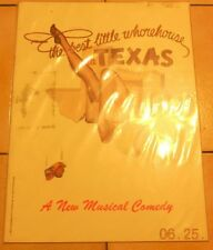 1978 the Best Little Whore House In texas broadway Musical Show TOUR program HTF
