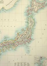 1890 Antik Landkarte ~ Japan Tokaido Saikaido Sanindo Tokyo Tokio Yesso Hokkaido