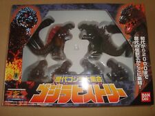GODZILLA HISTORY FIGURE COLLECTION SET 6 PZ. BANDAI 1999