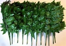 144 Stems Silk Leather Fern Bakers Leaves Wholesale Greenery Bulk 12 Bundles New