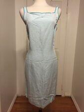 NWT Blue 100% Linen Ann Taylor Dress Size 12