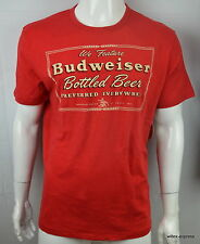 Lucky Brand Budweiser T-shirt Men's XL King of Beer Graphic tee Red NEW NWT
