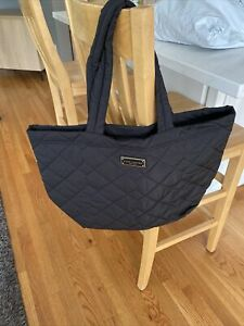 NWT RETAIL $275 MARC JACOBS Quilted Nylon Tote BLACK LARGE-zipper Top🌸
