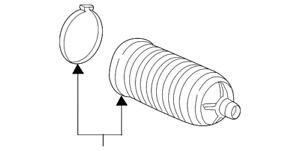Genuine Acura Dust Seal Set Tie Rod 53537-TZ5-A01