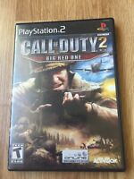Call Of Duty 2 Big Red One No Manual PS2 Sony PlayStation 2 Cib Game XP1