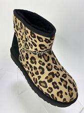 New! Ugg Women's Classic Mini Size 7 Cheetah Print Sheepskin Calf Hair
