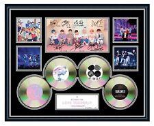 BTS LOVE YOURSELF 2019 K-POP BOY BAND SIGNED LIMITED EDITION FRAMED MEMORABILIA