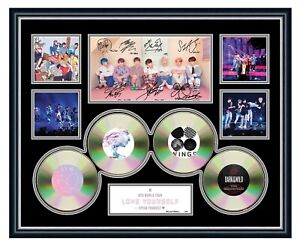 BTS LOVE YOURSELF 2019 K-POP BOY BAND SIGNED LIMITED EDITION FRAMED MEMORABILIA