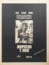 More details for t.rex / marc bolan original advert (not reproduction) for 1971 single 'jeepster'