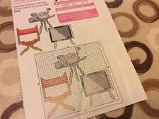 Directors Chair And Camera cross stitch chart Only  (M)