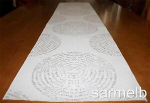 Handmade Beige Circle Table Runner - NEW 31cm x 132cm