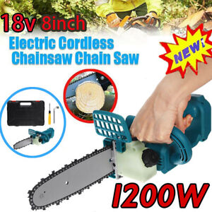 """8"""" 18V Brushless Chainsaw Cutting Tools For MAKITA Battery Cordless Electric MU"""