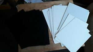 21 Assorted Sheets Black & White Plasticard Size A4 Mixed Assortment