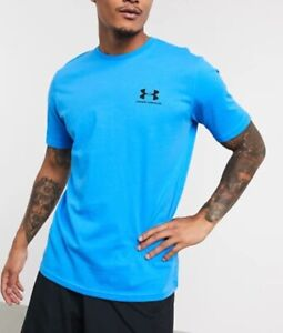Men's Under Armour T-Shirt Short Sleeve Running Gym Everyday Summer Top Blue