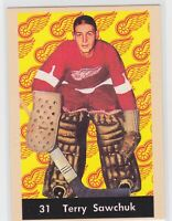 93/94 PARKHURST...TERRY SAWCHUK...PARKIES RE-PRINTS...CARD # PR-37...RED WINGS