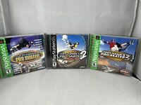 PS1 Game Lot: Tony Hawk Pro Skater 1, THPS 2 + THPS 3! Complete Tested