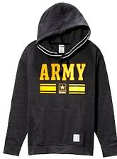 Victorias Secret Pink Soft BLING U S U. S. ARMY Slouchy PULLOVER Hoodie NWT M