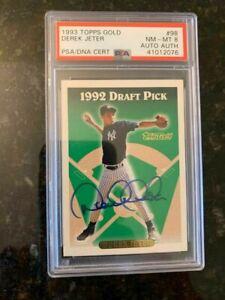 1993 Topps Baseball AUTO #98 DEREK JETER ROOKIE.....PSA/DNA CERTIFIED 8!