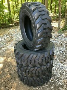 4 NEW 10-16.5 Skid Steer Tires 12 ply  -10X16.5  - fits Bobcat