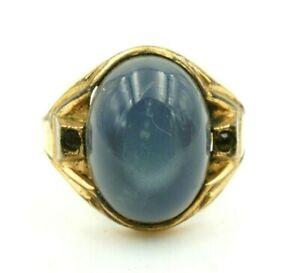 Vintage Uncas 1/20 12k Gold Filled Black White Stone Men's Ring Size 9.5