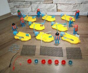 Playmobil Klicky 8x Schlauchboot mit Figuren zum Hafen und Zubehör