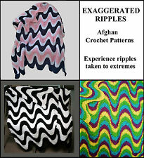 3 Crochet Patterns for Exaggerated Ripple Afghans / Throws / Blankets