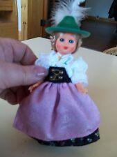 "Vintage 6"" Austrian Swiss German Costumed Doll"