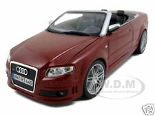 AUDI RS4 CONVERTIBLE RED 1:18 DIECAST MODEL CAR BY MAISTO 31147