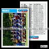 FRANCE (L'équipe de) LES BLEUS - Fiche Football 1992