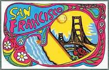 San Francisco, CA Hippy 60's Vintage-Style Travel Decal