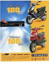 PUBLICITE ADVERTISING  1999     PEUGEOT     SPEEDFIGHT 100CC TREKKER