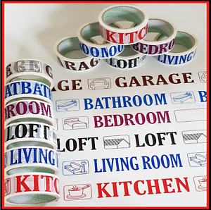 Packing Tape Room Name House Move packing Tape Strong Parcels  6 x 48mm x 40m