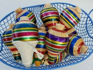 TROMPO SPINING TOP CLASSIC MEXICAN WOODEN TOY ***NEW ARRIVAL***