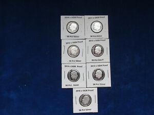 2010 2011 2012 2013 2014 2015 2016 GEM Proof Roosevelt Dimes (7 coins)