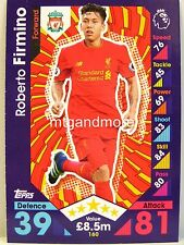 Match Attax 2016/17 Premier League - #160 Roberto Firmino - Liverpool FC