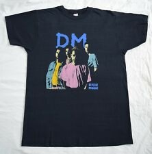 Vintage DEPECHE MODE 1990s VIOLATOR TOUR Black Band T-Shirt Top Size L Large