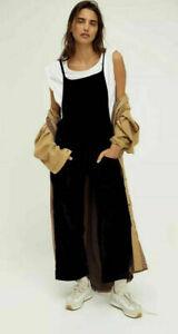 New Free People Weekender Velvet Overalls Size XL MSRP: $148