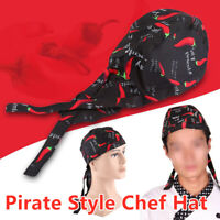 Pirate CookCap Chef Hat Sushi Japanese Catering Kitchen Waiter Men Women New